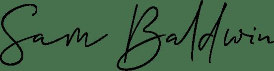 Sam Baldwin signature