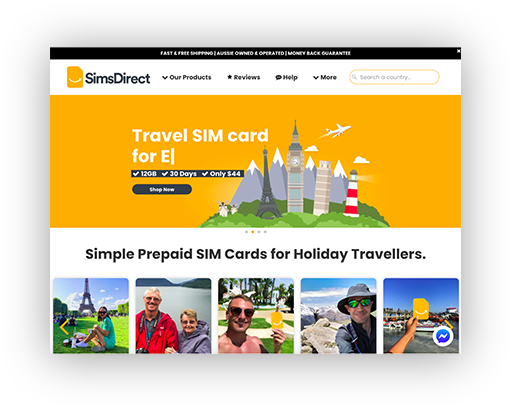 Sims Direct site
