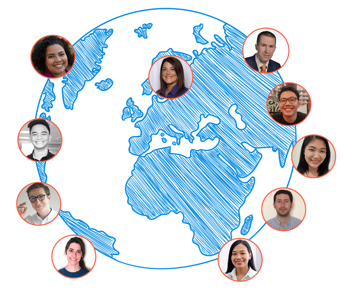 Team around the globe